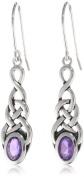 Sterling Silver Celtic Knot Linear Drop Earrings