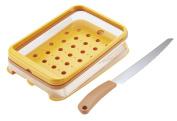 Kai Bready SELECT Slant Bread Slicer Guide & Bread Knife Set