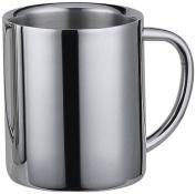 "Visol ""Java"" Double Walled Stainless Steel Mug, 380ml, Chrome"