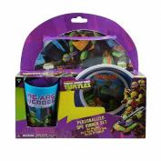 Teenage Mutant Ninja Turtles 3 Piece Dinnerware Gift Set - TMNT Bowl, Cup, Plate