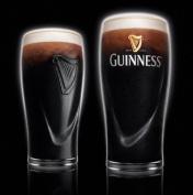 Guinness Irish Pint Beer Glasses 470ml - Set of 2
