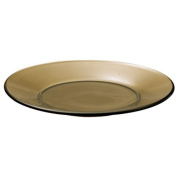 Anchor Hocking Presence 20cm Glass Luncheon Plate - Mocha, set of 12