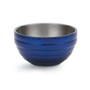 Vollrath 4656925 Stainless Steel Double Wall Insulated Round Serving Bowl, 9.6l, Cobalt Blue