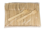 Perfect Stix Wooden Disposable Cutlery Forks 15cm length