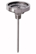 Tel-Tru 38100909 Model Gt500R Resettable Bi-Metal Process Grade Thermometer, Stainless Steel, 13cm Dial, 1.3cm Npt Back Connexion, 0.6cm Diameter x 23cm Long 304Ss Stem, 50/500 Degrees Fahrenheit and 0/250 Degrees Celsius, +/- 1% Full Span Accuracy
