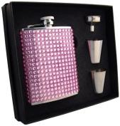 "Visol ""Kylie"" Bling Flask Gift Set, 180ml, Pink"