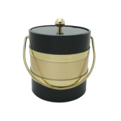 Mr. Ice Bucket 2.8l Two Tone Ice Bucket, Black and Gold
