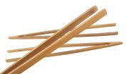 30cm Reusable Bamboo Tongs, Carbonised Brown - by BambooMN - 10 Pieces - Toast Tongs