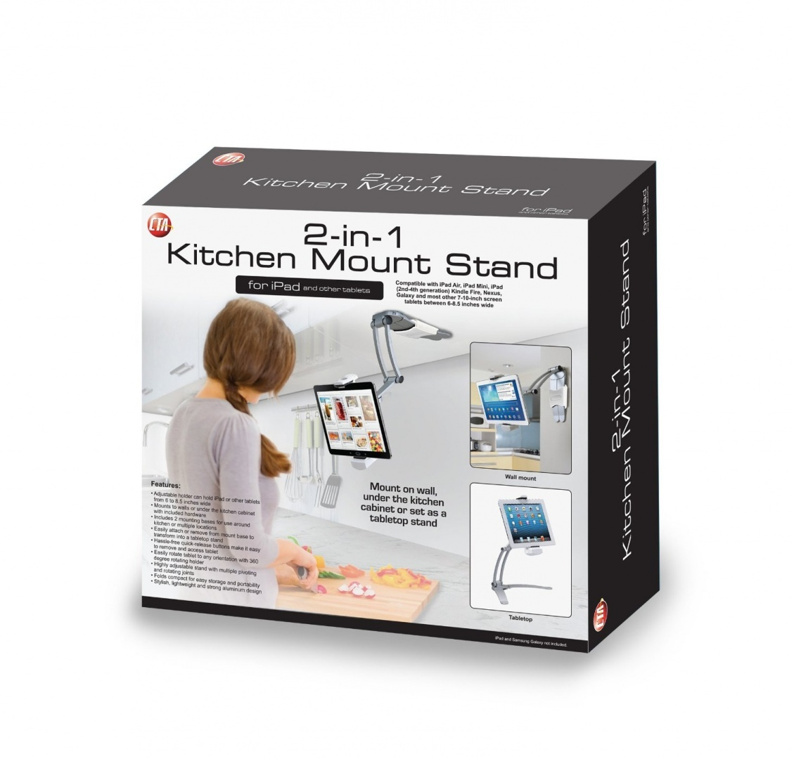 2-In-1 Kitchen Mount Stand for iPad/ iPad Air/iPad mini and All ...
