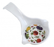 RANGE KLEEN 3-In-1 Spoon Rest-Ladle-Measuring Cup - Apples