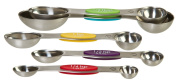 Prepworks from Progressive Stainless Steel Snap Fit Measuring Spoons, Set of 5