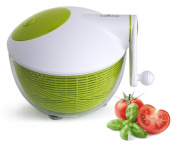 Culina, Robust Salad Spinner, 4.7l. BPA-Free, Space Saving, Durable Construction, Ergonomic Features, Food Safe, Fast, Easy, Effortless, High Performance Spin for Healthy Benefits, Suited to Vegan, Vegetarian, Paleo Diet, Juicing Preparation, Multi Use