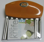 Joie Fruit And Vegetable Wavy Chopper Knife Stainless Steel Blade