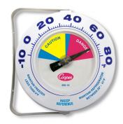 Cooper-Atkins 255-14-1 Bi-Metal HACCP Refrigerator and Freezer Thermometer, 15cm Dial Size, -10 to 80 degrees F Temperature Range