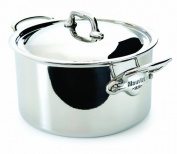 Mauviel Made In France M'Cook 5 Ply Stainless Steel 5231.25 6.1l Stewpan with Lid, Cast Stainless Steel Handle