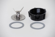 Oster Ice Crusher Blade 4961 + Oster Replacement Jar Base + 2 Rubber O Ring Sealing Ring Gaskets Combo New