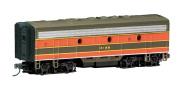 Bachmann Industries EMD F7-B Diesel Locomotive DCC Equipped Great Northern Train Car, Green/Orange, N Scale