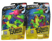 Imperial Kaos 150 Water Balloons with Faucet Filler (Pack of 2) - Total of 300 Water Balloons & 2 Faucet Fillers