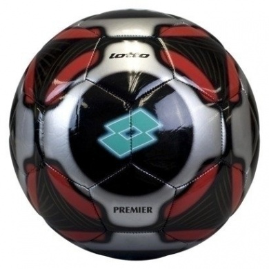 Lotto Soccer Ball Italian Sport Design Size 13cm (Black, Red and Silver)