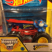 Superman Monster Jam Off Road Truck By Hot Wheels 1:64