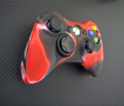 One Piece 1x Brand New High Quality Xbox 360 Remote Controller Silicon Protective Skin Case Cover -Red Black Colour