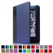 Fintie Folio Case for Kindle Paperwhite - The Book Style PU Leather Cover with Auto Sleep/Wake for All-New Amazon Kindle Paperwhite (Fits All Versions with 15cm Display and Built-in Light), Navy/Black