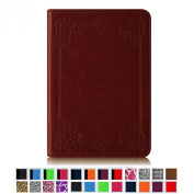 Fintie Folio Case for Amazon Kindle Paperwhite and All-New Kindle Paperwhite (15cm High Resolution Display with Next-Gen Built-in Light) Book Style with Auto Sleep/Wake Feature - Vintage Maroon