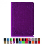 Fintie Folio Case for Kindle Paperwhite - The Book Style PU Leather Cover with Auto Sleep/Wake for All-New Amazon Kindle Paperwhite (Fits 2012, 2013, 2015 and 2016 Versions), Vintage Glory Purple