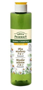 Green Pharmacy Micellar Solution 3-in-1 Chamomile - Cleanses, Tones, Moisturises, Soothes - for All Skin Types, including Sensitive, Delicate & Prone to Irritation - Free from Parabens, Soaps, Artificial Colouring & Fragrances - 250ml