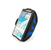 King of Flash for Samsung Galaxy Note 2 II N7100, 3 III N9000 Mesh Armband Case Cover for Jogging, Running, Sports, Gym, Riding