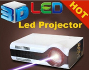 Gowe Home theatre cinema 2200Lumens HDMI LED LCD HD Video 3D Projector/projetor/proyector/projecteur