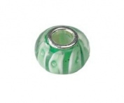 FreeStyle Beads Glass Bead Approx. 10 x 15 mm Green