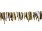 MOP Decorative Faux Teeth c. 7 x 40 mm on Approx. 40 cm Line Natural
