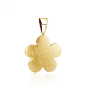 Bold and simple, 925 sterling silver Flower shape Pendant with Gold plated Ice finish.