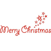 Merry Christmas Red Colour Wall Sticker Wall Decoration Wall Art Designed