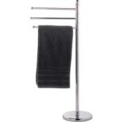 High Quality 3 Arm Freestanding Towel Rail - Chrome.
