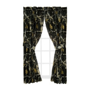 Realtree Ap Black Rod Pocket Drapes, 2 Panels, 2 Tie-Backs