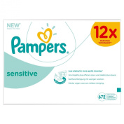 Pampers Sensitive Unscented Baby Wipes Multipack12 x 56 Total 672 wipes