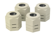 Patterson Medical Langham 3.2 to 5cm Grip On Height Adjustable Furniture Raisers - Set of 4