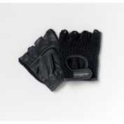 Patterson Medical All-Purpose Medium Size One Pair Black Padded Mesh Wheelchair Gloves