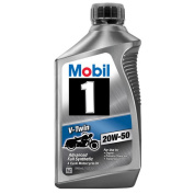 Mobil 1 20W-50 Full Synthetic Motorcycle Oil, 0.9l.