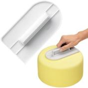 Accmart(TM) Fondant Smoothing Cake Tool Decorate Smoother White