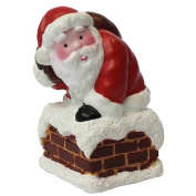 Anniversary House : Santa Climbing Down the Chimney Christmas Cake Topper