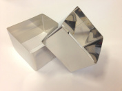 Stainless Steel Cooking Squares. Sides 7.4 and 8.2 cm, height 5 cm - Set of two Cod. 990187