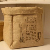 Vintage Jute Bag Vegetable Onion Potato Hessian Storage Sack Shabby Chic Kitchen