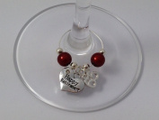 'Happy Retirement' Wine Glass Charm with 65th Sign Charm by Libby's Market Place