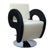 Cream and Black Salon Chair Styling Fashion Barber Hairdressing 9905