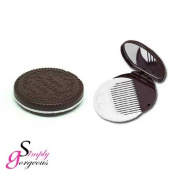 Simply Gorgeous Chocolate Cookie Mirror & Comb Set