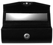 Fantasia Lipstick Holder Press-Stud Fastener Length 8.7 cm, Height 3 cm Black with Mirror