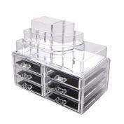 Makeup Cosmetic Clear Acrylic Organiser Organiser Display w Drawers #119